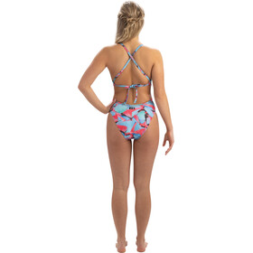 Dolfin Print Tie Back One Piece Badpak Dames, fancy